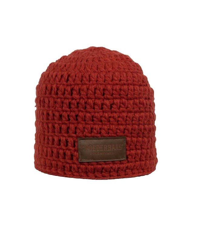 Crocheted hat red