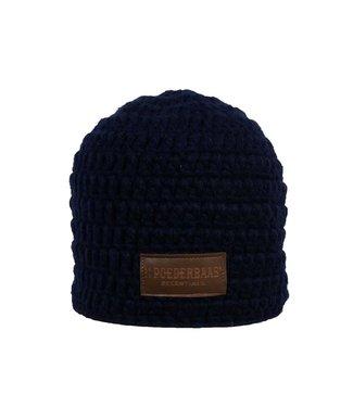 Gehäkelte Mütze blau