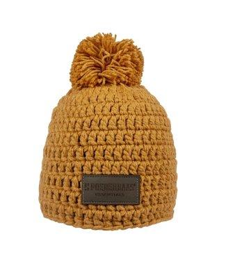 Gehäkelter orangefarbener Hut