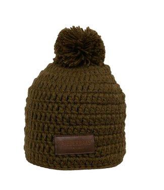 Crocheted green hat