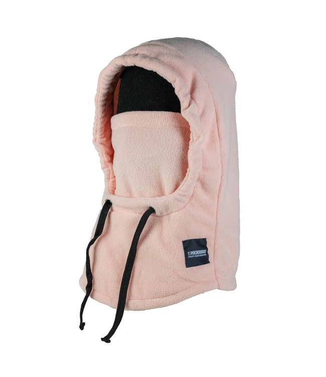 Roze fleece Balaclava van Poederbaas (facemask)
