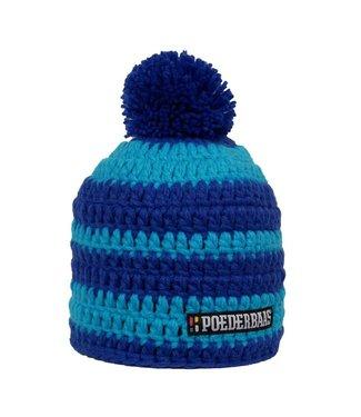 Blue men's hat with pompom