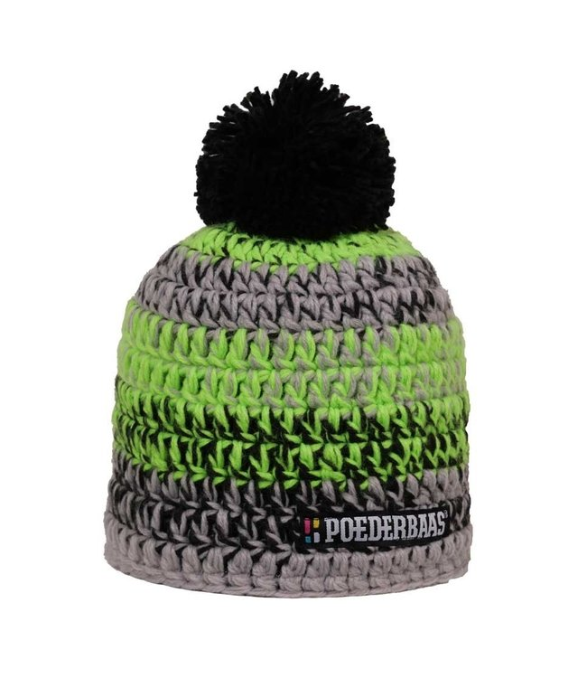 Men's ski hat - Black, lime green, gray
