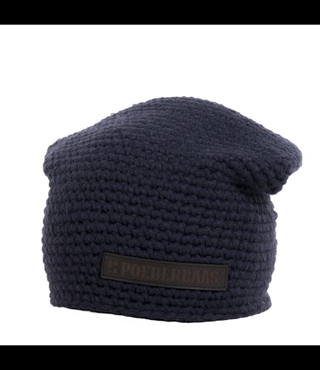 Winter sports hat long - navy blue