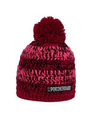 Bunter Hut - pink / rot / schwarz