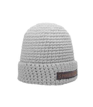 Gehäkelte Mütze mit Fleece - hellgrau - Copy
