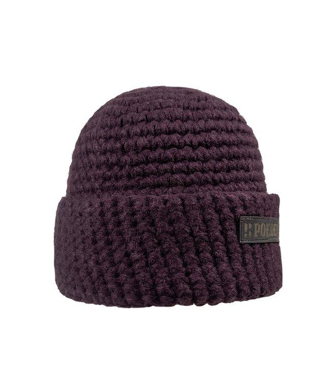 Winter sports hat - burgundy red