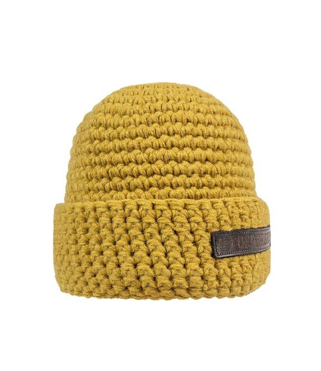 Winter sports hat - yellow ocher