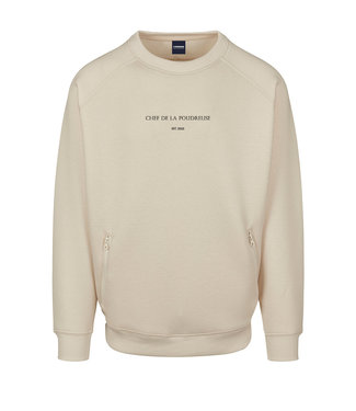 Premium 'Chef de la Poudreuse' sweater beige