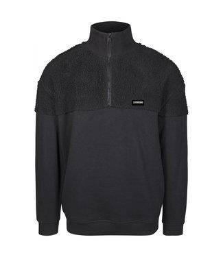 Oversize Sherpa Troyer - black