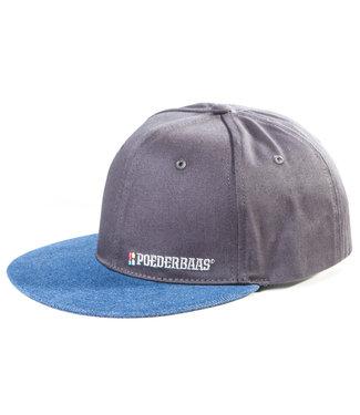 Snapback / cap met logo - grijs/blauw
