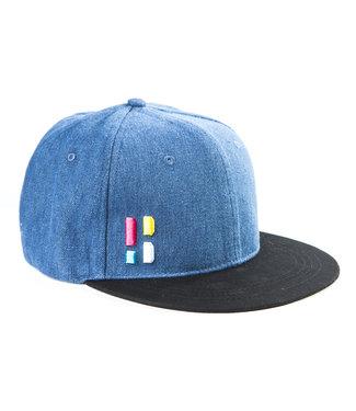 Snapback / cap met embleem - blauw/zwart