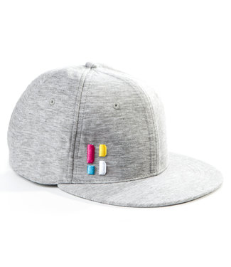 Snapback / cap met embleem - grijs