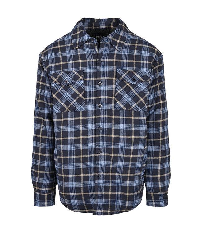 Flannel jacket dark blue / black
