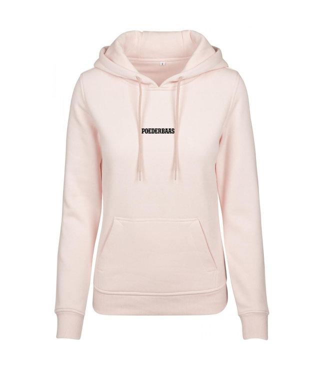 Pink Poederbaas hoodie for women