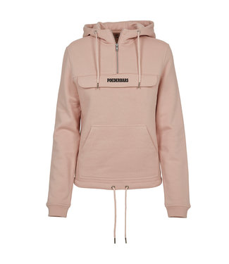 Light Rose Kangaroo Hoodie für Frauen
