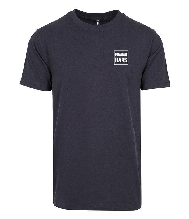 Weißes Logo T-Shirt Navy