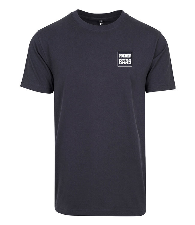 White Logo T-Shirt Navy