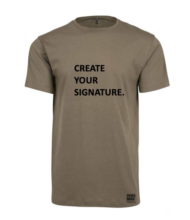 Create Your Signature T-Shirt Army Green