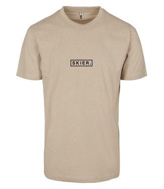 Skifahrer. Sandy T-Shirt