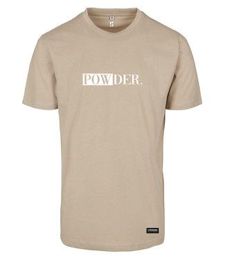 Sandy POWDER. t-shirt with white print