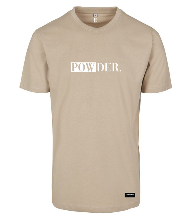Sandy POWDER. t-shirt met witte opdruk