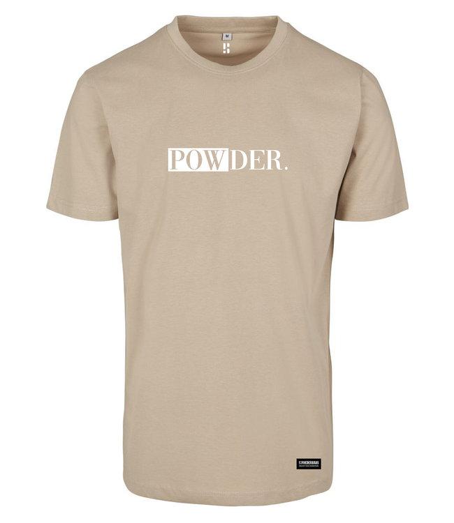 Sandy PULVER. T-Shirt mit weißem Aufdruck