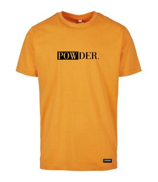 Oranje POWDER t-shirt met zwarte opdruk
