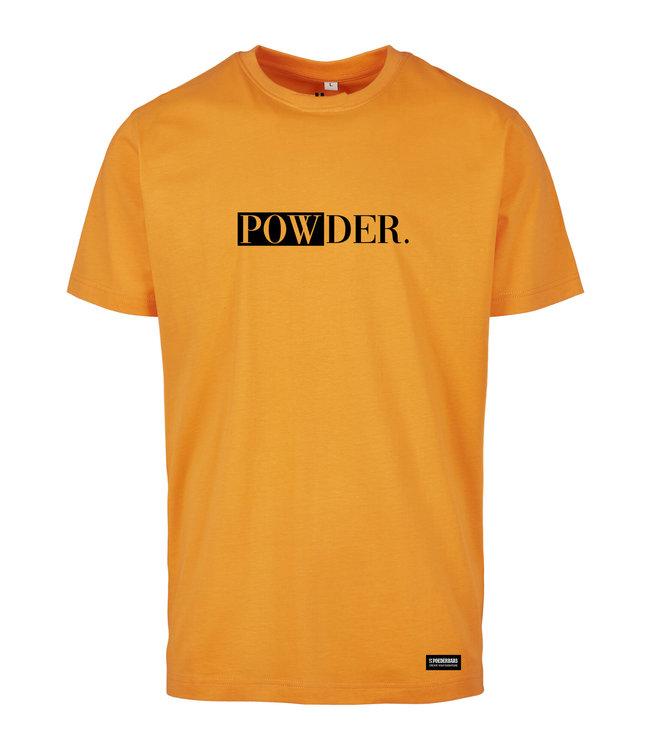 Orange PULVER T-Shirt mit schwarzem Aufdruck