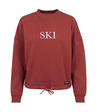 "Red ""SKI"" Poederbaas Crewneck"