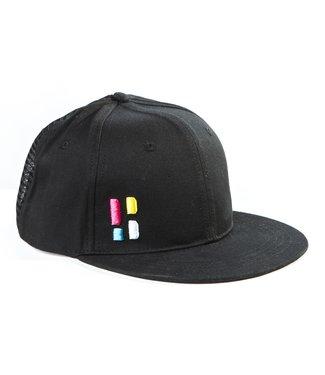 Snapback / cap met embleem - zwart