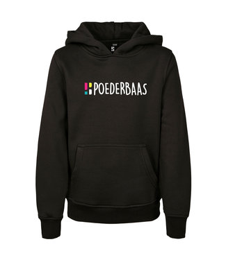 Schwarzer Hoodie für Kinder von Poederbaas