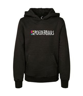 Zwarte hoodie voor kids van Poederbaas
