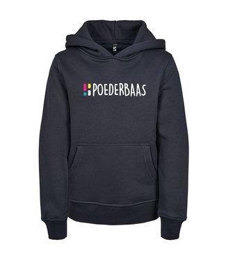 Blauer Hoodie für Kinder von Poederbaas mit Aufdruck