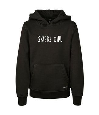 Skiers Girl hoodie for kids from Poederbaas