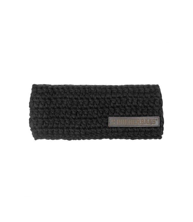 Schwarzes Stirnband mit Fleece