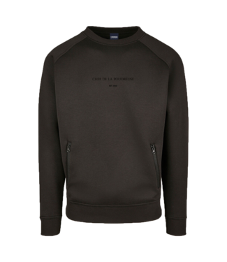 Premium 'Chef de la Poudreuse' sweater Schwarz