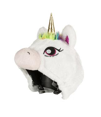 White Unicorn - Helmet cover