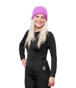 Pro Thermo Baselayer Shirt - Dames - lange mouwen - zwart