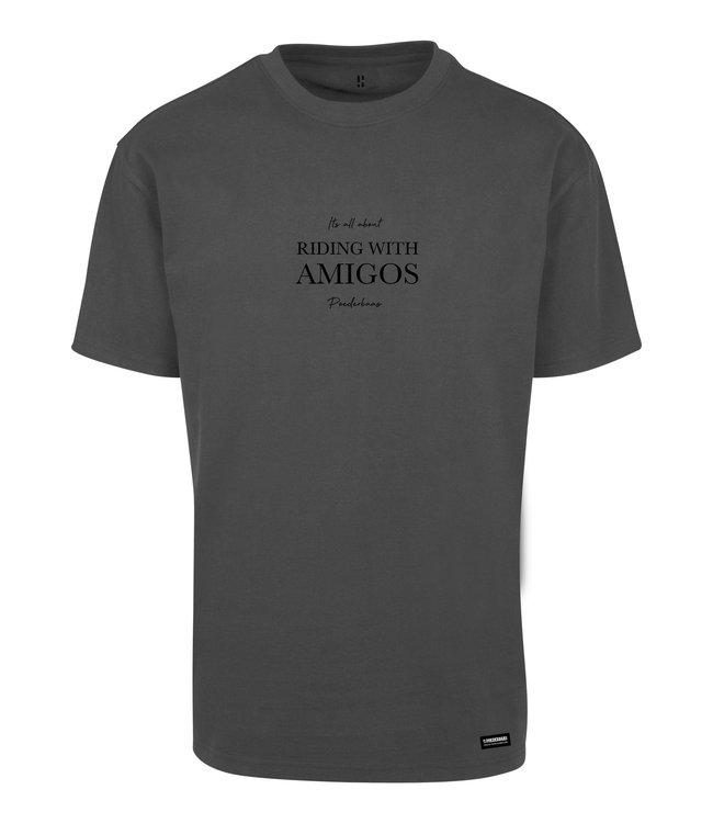 Riding with Amigo's T-shirt Zwart