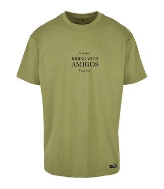Riding with Amigo's T-shirt Green - Light Green
