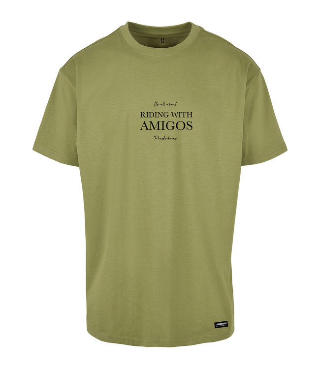 Riding with Amigo's T-shirt Licht Groen