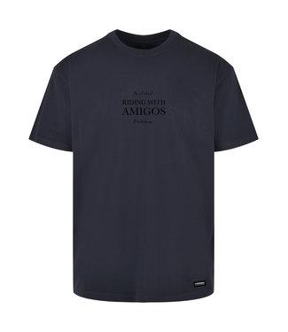 Riding with Amigo's T-shirt Navy von Poederbaas