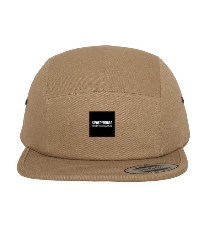 5-Panel cap met label - Beige