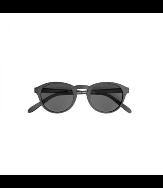Schwarze Sonnenbrille (rund) – Poederbaas x Blueberry Collab