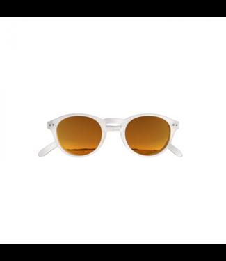 Weiß / Orange Sonnenbrille (rund)