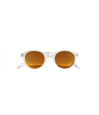 White/Orange Sunglasses (Rond) – Poederbaas x Blueberry Collab