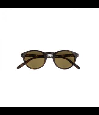 Braune Sonnenbrille (rund) – Poederbaas x Blueberry Collab