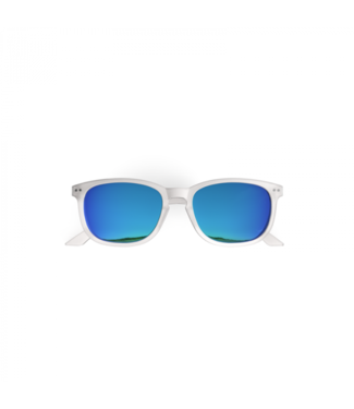 Weiße / blaue Sonnenbrille – Poederbaas x Blueberry Collab