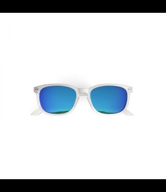 Weiße / blaue Sonnenbrille